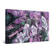 """Startonight Canvas Wall Art Abstract - Purple Jazz Music Painting - Large Artwork Print for Living Room 32"""" x 48"""""""