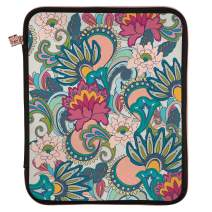 """Erin Condren Planner Folio - Playful Paisley, Medium (9"""" x 11""""), Organizer and Portfolio Case Holder for Planners, Documents and Devices with Rose Gold Zipper and Inner Pouch"""