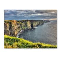 Cliffs of Moher Ireland by Pierre Leclerc work, 16 by 24-Inch Canvas Wall Art