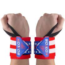 BYKOTTOS Wrist Wraps Weightlifting, Powerlifting Straps, Wrist Support, Weight Lifting, Workout Wrist Braces, Wrist Wraps for Women and Men