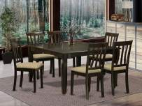 7 Pc Dining room set for 6-Square Dining Table with Leaf and 6 Dining Chairs