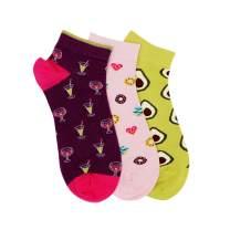 Soxytoes Unisex Socks - Free Size, Casual Cotton Novelty Socks Multicolor for Men & Women, Pack of 3