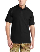 Tru-Spec Men's 24-7 Classic Cotton Short Sleeve Polo Shirt, Black, Medium