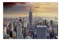 New York City, NY - Skyline & Sunset 9002487 (Premium 1000 Piece Jigsaw Puzzle for Adults, 20x30, Made in USA!)