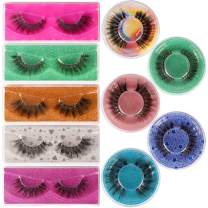 Lashes 3D Mink Eyelashes Fluffy 10 Pairs 10 Styles Mixed False Lashes Pack Natural Look Portable Fake Eyelashes HeyAlice