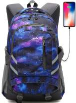 Galaxy Backpack Bookbag for School Student College Travel Business with USB Port
