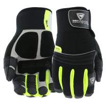 West Chester Pro Series 96652 Yeti Waterproof Winter Work Gloves - [1 Pair] X-Large, Synthetic Leather Palm, Spandex Backing, HI-VIS Safety Gloves