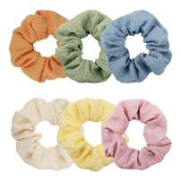 YOHAMA Colorful Puff Hair Scrunchies Teens Hair Ties Cute Hair Accessories Soft Elastic Hair Bands for Girls and Women Ponytail Holder Wrap Hair Decoration Bun or Dance Competition Hairstyle