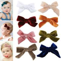 Velvet bows hair clips for girls - toddler girl hair accessories barrettes - bow alligator clip for Teens Kids Toddlers (Velvet Clips Assorted Mix)