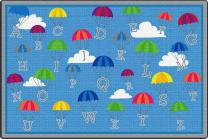 ECR4Kids P is for Parachute Activity Rug for Children, School Classroom Learning Carpet, Rectangle, 6 x 9-Feet