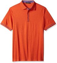 Bugatchi Men's Trim Fit Melange Cotton Solid Polo Shirt