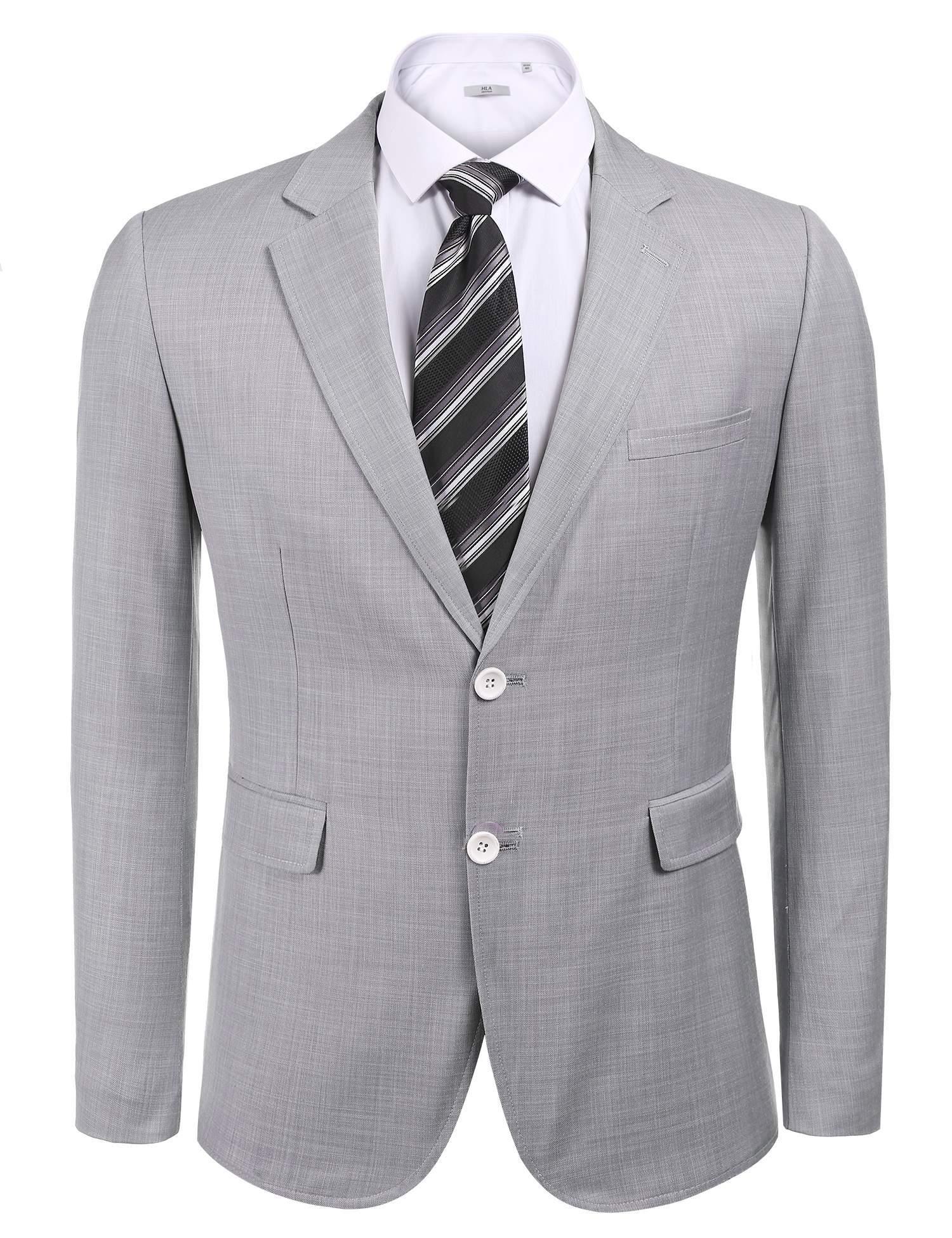 COOFANDY Men's Elbow Patchwork Suit Jacket Stylish Wedding Blazer