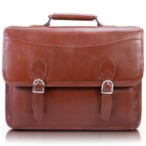 "McKlein USA Belvedere 15.4"" Leather Double Compartment Laptop Briefcase"