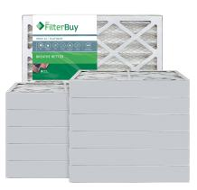 FilterBuy 14x25x4 MERV 13 Pleated AC Furnace Air Filter, (Pack of 12 Filters), 14x25x4 – Platinum