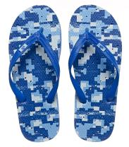 Showaflops Mens' Antimicrobial Shower & Water Sandals for Pool, Beach, Dorm and Gym - Bold Print Collection