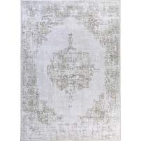 DECOMORE Traditional Vintage Area Rugs Oriental Distressed Rug Carpet for Living Room Bedroom Runners for Hallway 4x6