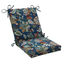 """Pillow Perfect 573410 Outdoor/Indoor Telfair Peacock Square Corner Chair Cushion, 36.5"""" x 18"""", Blue"""