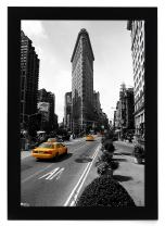 Americanflat 11x17 Black Picture Frame, Legal Sized Paper Display. Shatter-Resistant Glass. Hanging Hardware Included