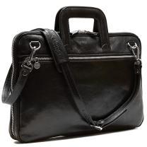 Floto Firenze Slim Leather Briefcase Attache Messenger Bag Small