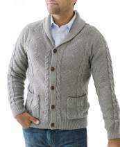 Hope & Henry Men's Long Sleeve Shawl Collar Cardigan Sweater