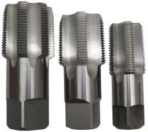 """Drill America 3 Piece NPT Pipe Tap Set (1"""", 1-1/4"""" and 1-1/2""""), Plastic Pouch Case, POU Series"""