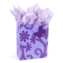 """Hallmark 13"""" Large Gift Bag with Tissue Paper (Lavender Flowers) for Birthdays, Baby Showers, Weddings, Mothers Day and More"""