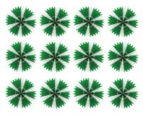 Beistle 55293-GW 12-Pack Tissue Fans, 25-Inch, Green and White