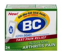 BC Powder | Fast Pain Relief | Arthritis | Aspirin (NSAID) & Caffeine | 24 Count