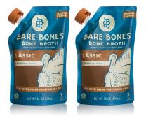 Bare Bones Turkey Bone Broth for Cooking and Sipping, Pasture Raised, Organic, Protein and Collagen Rich, Keto Friendly, 16 oz, Pack of 2