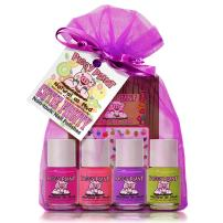 Piggy Paint 100% Non-Toxic Girls Nail Polish - Safe, Chemical Free Low Odor for Kids, Cutie Fruity Gift Set