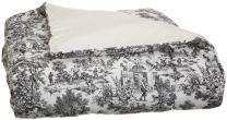 Ellis Curtain Victoria Park Toile Bed Comforter Twin Size, Black