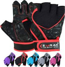 EMRAH Gym Weight Lifting Gloves Women Workout Fitness Ladies Bodybuilding Crossfit Breathable Powerlifting Wrist Support Strength Training Exercise