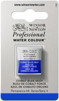 Winsor & Newton Professional Water Colour Paint, Half Pan, Cobalt Blue Deep