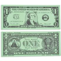 Learning Advantage One Dollar Play Bills - In Home Learning Toy for Counting and Currency Lessons - Set of 100 $1 Paper Bills - Play Money Designed and Sized Like Real US Currency