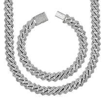 """[2-5 Days Delivery] Premium CZ Square S-Link Miami Cuban Link Chain Made From Jewelers Alloy With Secure Box Lock. In Widths 12MM, 14MM and Lengths 8"""", 9"""", 18"""", 20"""", 22"""", 24"""", 26"""", 28"""", 30"""""""