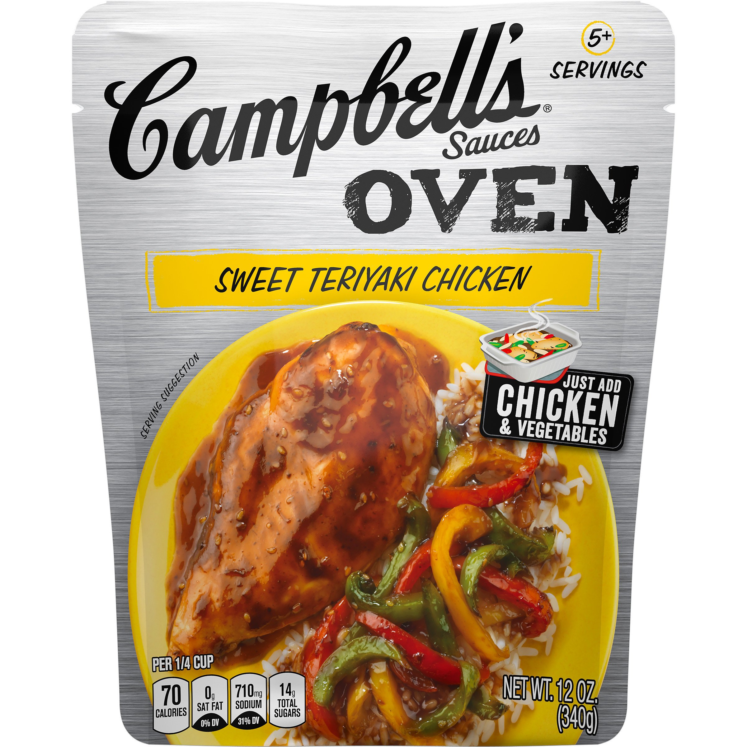 Campbell's Oven Sauces Sweet Teriyaki Chicken, 12 oz. (Pack of 6)