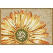"Liora Manne Frontporch Front Porch Kitchen Sunflower Yellow Indoor/Outdoor Rug, 1'8"" x 2'6"""