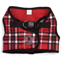 The Worthy Dog Printed Sidekick Pattern Harness with Padded Mesh Velcro Adjustable, Outdoor, Easy Walk Vest for Small Medium Large Dogs, Red Color
