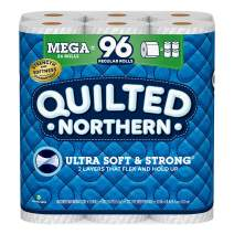 Quilted Northern Ultra Soft and Strong® Toilet Paper, Mega Rolls, 24 Count of 328 2-Ply Sheets Per Roll