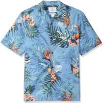 Amazon Brand - 28 Palms Men's Relaxed-Fit 100% Cotton Tropical Hawaiian Shirt