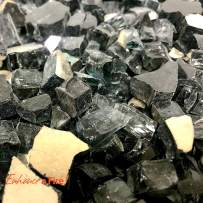"""Enhance A Fire! 1/2"""" Reflective Crushed Tempered Fire Glass (10, Onyx Black)"""