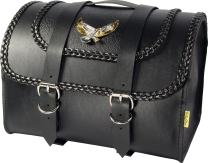 Dowco Willie & Max 58509-20 Black Magic Series: Synthetic Leather Max Pax Motorcycle Tour Trunk, Black, Universal Fit, 20 Liter Capacity