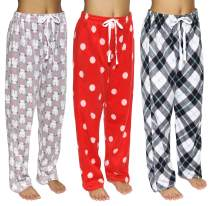 3 Pack:Women's Super-Soft Plush Fleece Pajama/Lounge Pants