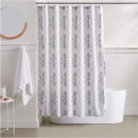 AmazonBasics Geometric Boho Shower Curtain - 72 Inch
