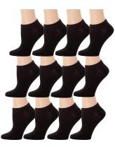 Top Step 12 Pair Pack Women's Colorful Fashion No Show Socks