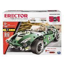 Meccano Roadster 5-in-1 Building Kit, 174 Parts, STEM Engineering Education Toy for Ages 8 and Up