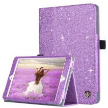 iPad Mini Case, iPad Mini 2 Case, iPad Mini 3 Case, BENTOBEN Glitter Sparkly Folio Folding Stand Cover with Holder & Auto Wake/Sleep Luxury Smart Case Without Stylus for iPad Mini 1/2/3, Purple