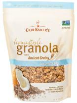 Erin Baker's Homestyle Granola, Coconut Chia, Gluten-Free, Ancient Grains, Vegan, Non-GMO, Cereal, 12-ounce bag