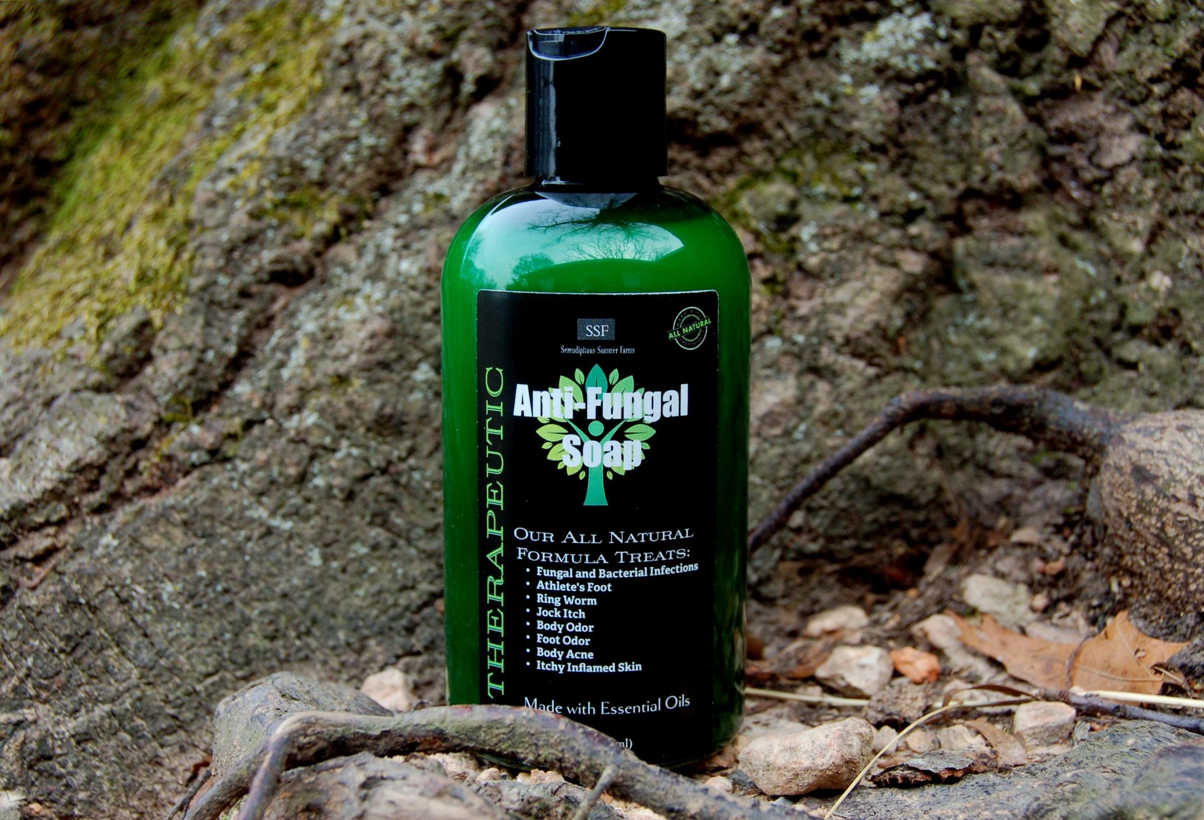 (2pk.) Antifungal Soap with Tea Tree, Mint, and Clove. All Natural Formula -Eliminate Athletes Foot, Body Odor, Acne. Naturally Antibacterial! Hand Sanitizing Soap!