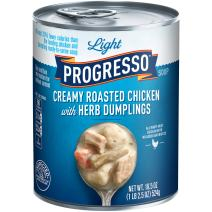 Progresso Light Creamy Roasted Chicken with Herb Dumpling Soup 18.5 oz Pull-Top Can (pack of 12)